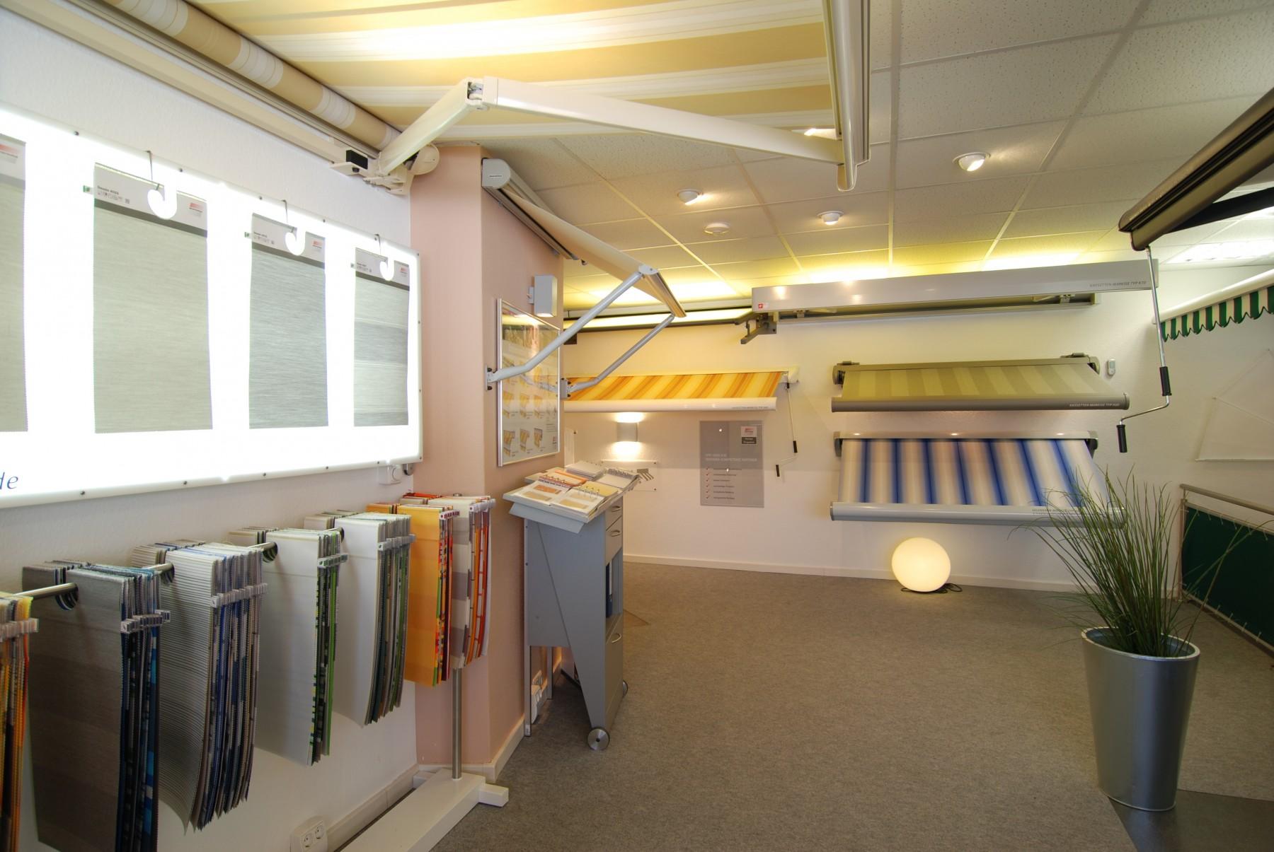 Markisen und Rollladen Ausstellung von Staal in Kiel