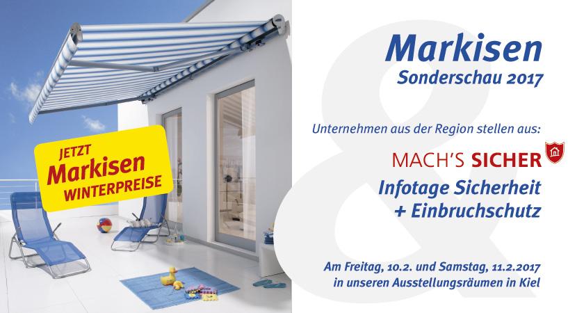 Markisen Sonderschau 2017 Und Mach's Sicher Infotage Bei STAAL